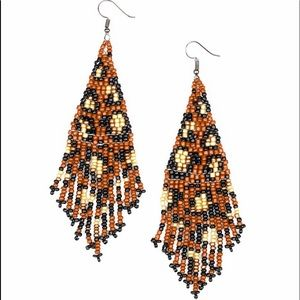 Bodacious Bombshell Brown Leopard Print Earrings